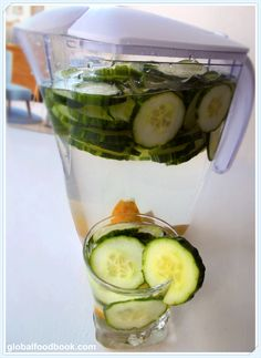 AWESOME Cucumber and Lemon Water