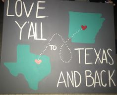 Love y'all to Texas and back