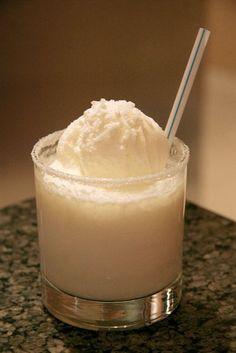 Snow Bunny Cocktail or Dessert? Whipped Cream Vodka or Malibu Rum, Ice Cream, etc. yummy!