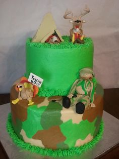 Hunting Cake.....chances are that my little boy will want this one day!