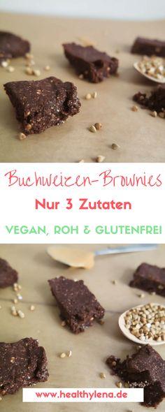 Rohe Buchweizen-Brownies fettarm glutenfrei vegan ohne soja Rohkost roh raw