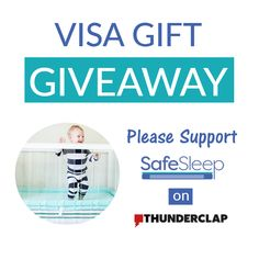 The SafeSleep BreatheTHRU Crib Mattress is coming soon on Kickstarter - Feb 15th!  To celebrate and raise awareness, we are giving away a $200 Visa Gift Card and there's a way to give a $50 Visa to a friend if you win! Entering is easy - see how here and together we will save babies' lives.