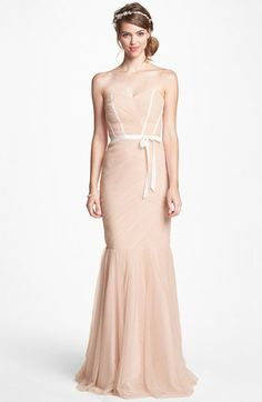 ML Monique Lhuillier Bridesmaids Tulle Trumpet Dress | Nordstrom  we may have a winner...
