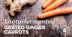 The ginger in this recipe is wonderfully reminiscent of a carrot and ginger soup. With its refreshing tang this is best served up as a condiment to your favorite protein or as an addition to a salad.
