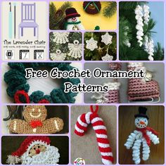 150+ Christmas Patterns - Free Crochet Ornament Patterns- The Lavender Chair