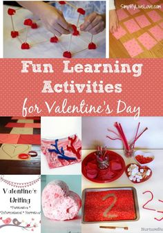 Check out all of these fun learning activities for Valentine's day and incorporate science, math, reading, and arts & crafts on this amazing day of love.
