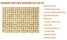 "Quality Bamboo and Asian Thatch: ""Bamboo"" panels for Walls/Ceilings Covering Decor-Paneling(bamboo) for-Wall/Ceilingcovering-Bamboo wall panels-Bamboo ceiling Panels/tiles/plank/decor-Woven/Weave/Weaving Bamboo Matting/panels Bamboo Panels, Bamboo Art, Bamboo Ceiling, Veneer Plywood, Bamboo House, Ceiling Panels, Roller Shades, Tropical Style, Weaving"