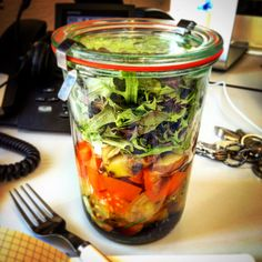 salad in a jar!