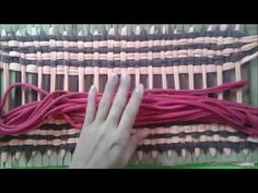 TAPETE COM RETALHOS TENDO COMO BASE O PAPELÃO #artesanato - YouTube Crochet Lampshade, Loom Board, Loom Weaving, Sewing Hacks, Hand Embroidery, Decoupage, Diy And Crafts, I Am Awesome, Make It Yourself