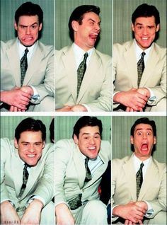 Jim Carrey is seriously one of my biggest inspirations. He's a hilarious guy and an extremely good actor. I've always tried to keep things on the comical side and he's one of the reasons why. I love making people laugh even at my own expense. Face Expressions, Best Actor, Famous Faces, Funny Faces, Funny People, Belle Photo, Funny Kids, Celebrity Crush, Comedians