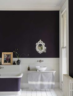 British paint manufacturer Farrow & Ball has expanded its extensive color card with nine new shades. Carefully chosen to balance Farrow & Ball'. Farrow Ball, Farrow And Ball Paint, Bathroom Red, Bathroom Paint Colors, White Bathrooms, Bathroom Basin, New Paint Colors, Wall Colors, Interior Paint