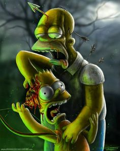 The Simpsons - Bart and Zombie Homer                                                                                                                                                                                 More