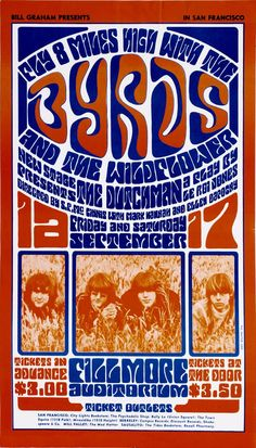 THE BYRDS CONCERT POSTER