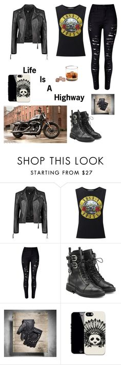 """""""Biker Zone"""" by adriana4-life on Polyvore featuring Boohoo, Miss Selfridge, WithChic and Giuseppe Zanotti"""