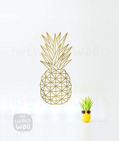 Art mural géométrique ananas, Fruit Stickers mural autocollant Decor, australien fait