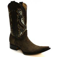 Jugo Boots® 5701XX Bota de Hombre Vaquera Tiburón Slover Café - Botas  Vaqueras - Botas  e4993a8a507a