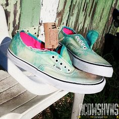 8aace0685e4 Custom Acid Wash Vans Cloudy Day by acdwsh on Etsy