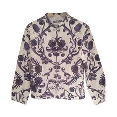 1980s Moschino white and blu jacket from wonderland-capri on RubyLUX