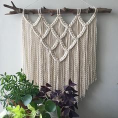 New wall hanging with a super-unique piece of #Chesapeake driftwood! This LARGE hanging will show up in the shop very soon. . . . . . #showmeyourboho #macrame #modernmacrame #etsyseller #weloveplants #bohochic #interior4you #houseplantclub #bohemianstyle #gypsysoul #vintage #interior123 #apartmenttherapy