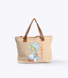 Small Dutch Girl by Barang Eropa. A bag crafted from cotton with sewing techinc reinforcement also using zipper as covering. Featuring picture of a girl, also strap made from leather and has little pocket inside for your gadget. Size dimention: 32cm Width and 23cm Length.  http://www.zocko.com/z/JJuio