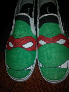 Teenage Mutant Ninja Turtles hand painted by LoveInspiredGoods, $40.00