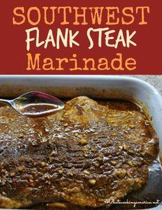 Southwest Flank Steak Marinade