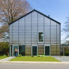 Belgian greenhouse has super-insulating glass and translucent polycarbonate plates over steel frame; Verdickt & Verdickt Architecten  http://mimoa.eu/projects/Belgium/Asse/Greenhouse%20VP