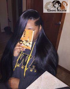 Eboni Nicole Slays hair