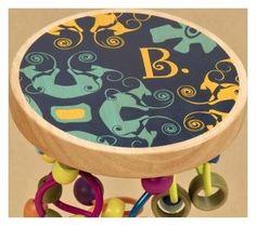 B Toys - Drewniane paciorki na zakręconych drążkach
