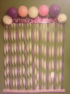 DIY photo backdrop. First birthday. All for under $10 and you have tons of extra leftovers for more decorating.