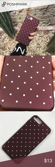 Dotted Matte Hard Case for iPhone 7, iPhone 7 plus - Brand New - Made from durable hard case plastic Matte PC - Ultra thin, Slim and also protective design  - Matte surface image, very nice touch feeling.  - Dirt-resistant shockproof Accessories Phone Cases