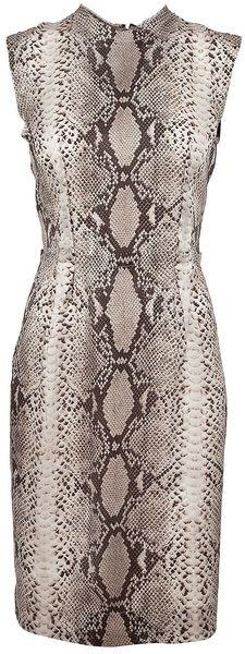 Lanvin  Snake-skin Printed Dress