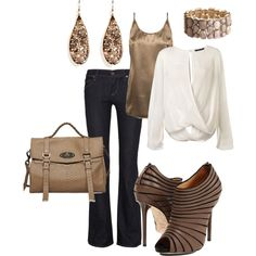 another neutral outfit - casual but can be worn as night out. Love the shoes. Look Fashion, Autumn Fashion, Fashion Outfits, Womens Fashion, Fashion Beauty, Looks Style, Style Me, Up Girl, Classy And Fabulous