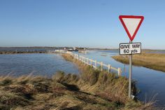 High tide and The Strood is covered. Mersea Island is cut off from the mainland. © doug english. Like Secret Mersea Island on facebook.