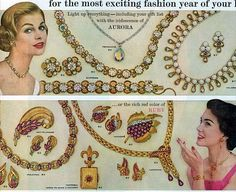 vintage coro jewelry 1958 advertisement by FrenchFrouFrou on Etsy, $12.95