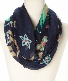 Take+a+look+at+the+Blue+Floral+Infinity+Scarf+on+#zulily+today!