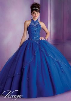 Find More Quinceanera Dresses Information about Royal Blue Quinceanera Dresses Ball Gowns 2015 Romantic Halter Backless Long Quinceanera Dresses,High Quality dress inner,China dress turquoise Suppliers, Cheap dresses beach from F&M New Fashion on Aliexpress.com
