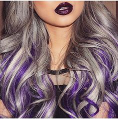 Sliver and purple, not a fan of silver hair but this is just too awesome