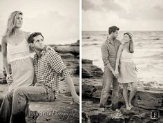 Beach Engagement Picture Poses | © Favorite Photography