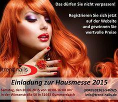 Einladung zur Hausmesse 2015 Samstag, den 20.06.2015 von 10:00-16:00 Uhr In der Wiesenstraße 50 in 51643 Gummersbach