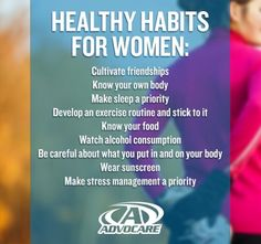 Women's healthy habits  #health #women #healthy