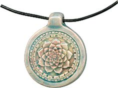 """""""raku"""" lotus pendant - note bail design!"""