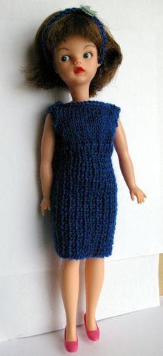 Royal blue Sindy DOLLS dress, headband will fit dolls Tammy Tressy Barbie Petra