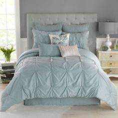 This color is pretty too... Anthology™ Whisper Comforter Set in Spa - BedBathandBeyond.com