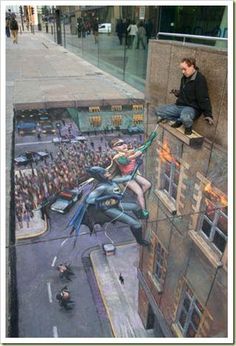 Check out this amazing 3D art drawn on the streets! This artist is amazing!
