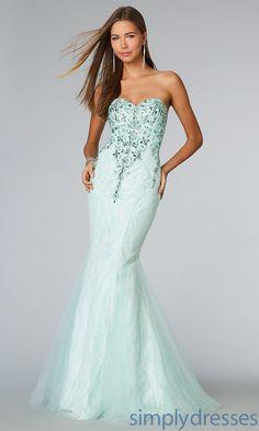 Floor Length Strapless Sweetheart Mermaid Dress - SimplyDresses