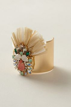 Gem Winnow Cuff #anthropologie. I love anthropologie, and I adore big wide cuffs!