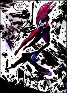 Falcon Saving Cap in Captain America #606