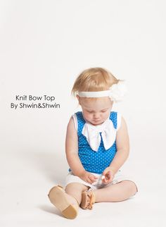 Shwin&Shwin: Knit Bow Top || Summer Collection