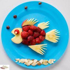 Healthy, fun food Strawberry Fish